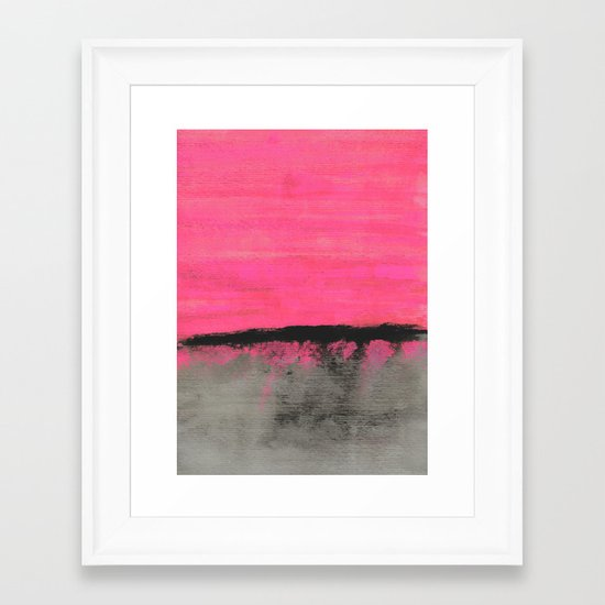 Sunset Horizon Framed Art Print