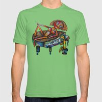 Every morning Jack plays the piano! Mens Fitted Tee Grass SMALL