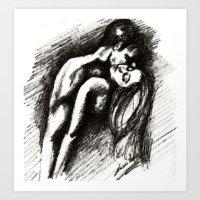 Sensual Embrace Art Print