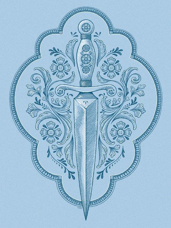 Gothic Dagger Ornamental Canvas Print