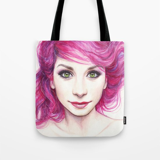 Pink Hair Tote Bag
