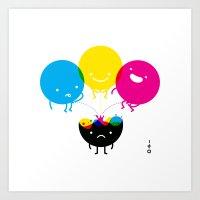 CMY Piss K Art Print