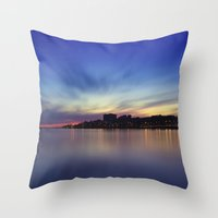 Long Exposure. Porto, Portugal. Throw Pillow