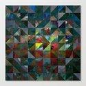 Colour Crystallization Canvas Print