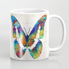 Colorful Butterfly Art by Sharon Cummings Mug