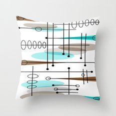 Mid-Century Modern Atomic Inspired Throw Pillow