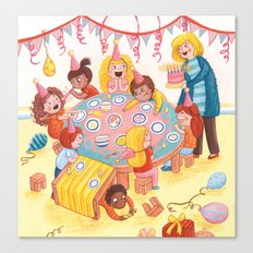 A Little Chaotic Birthday Party Canvas Print