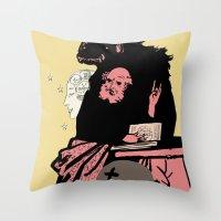 Black Magic #2 Throw Pillow