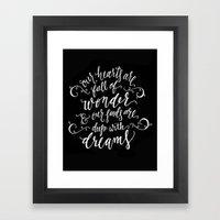 Wonder And Dreams Framed Art Print