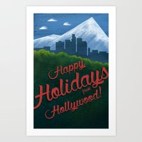 Happy Holidays from Hollywood! Art Print