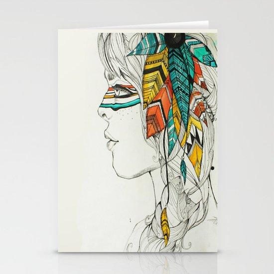 Native Woman Stationery Card