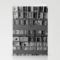 Block of flats. Bee project.  Stationery Cards