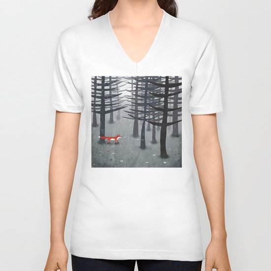 The Fox and the Forest V-neck T-shirt