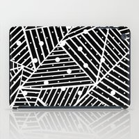 Abstraction Spots Close Up Black iPad Case