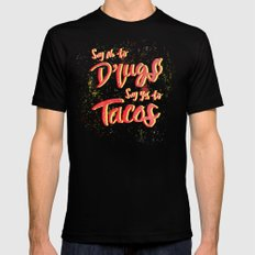 Say Yes to Tacos SMALL Mens Fitted Tee Black