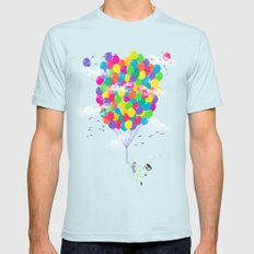 Neon Flight Light Blue SMALL Mens Fitted Tee