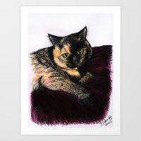 My Cat - DOTTY  Art Print