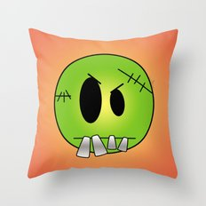 Scary Little Frankinstein Throw Pillow