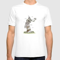 Crooked Mens Fitted Tee SMALL White
