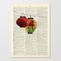 Vintage Lanterns Canvas Print