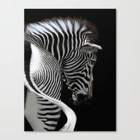 african stripes Canvas Print