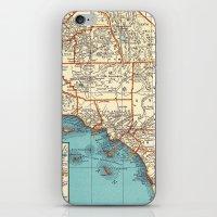 So Cal Surf Map iPhone & iPod Skin