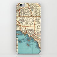 So Cal Surf Map iPhone & iPod Skin