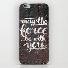 The Force - Red And Blac… iPhone & iPod Skin