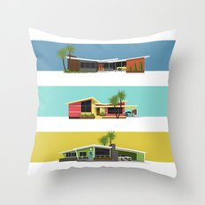 Mid Century Modern House… Throw Pillow