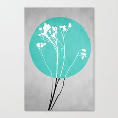 Abstract Flowers 1 Canvas Print