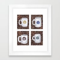 Coffee Time Series Framed Art Print