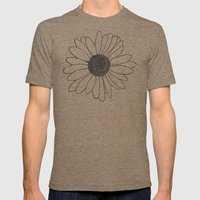Daisy Stripe Mens Fitted Tee Tri-Coffee SMALL
