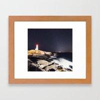 Zodiacal Lighthouse Framed Art Print