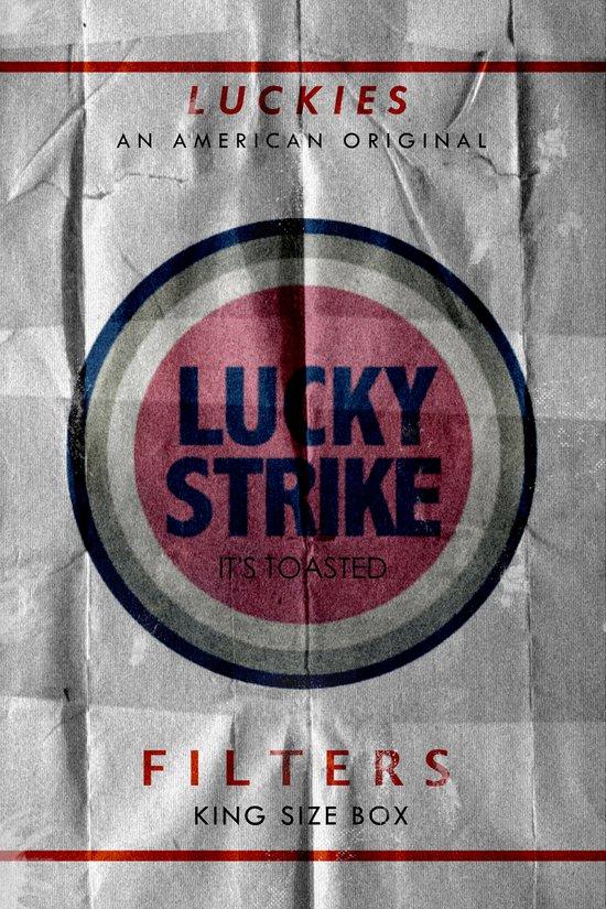Vintage Lucky Strike Carton Art Print