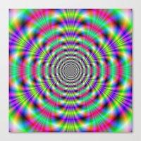 Psychedelic Rings Canvas Print