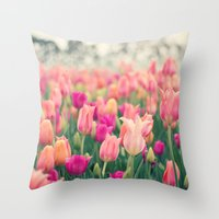 Tulips at Cheekwood Throw Pillow