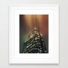 Misty Tower Framed Art Print