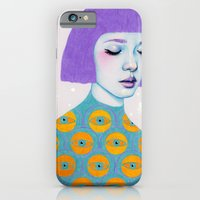 woman iPhone & iPod Cases featuring The Observer by Natalie Foss