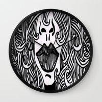 Hair With Lips Wall Clock