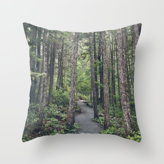 A walk through the trees Throw Pillow