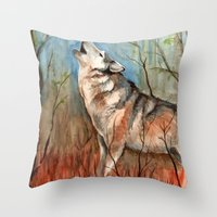 Lone Wolf Throw Pillow