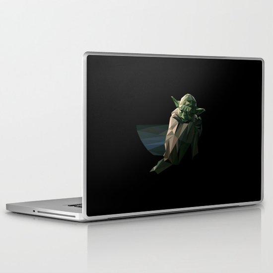 Geometric Yoda Laptop & iPad Skin