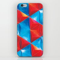Space Triangles iPhone & iPod Skin