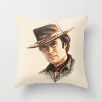 Clint Eastwood Tribute Throw Pillow