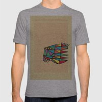 Triheaded Mens Fitted Tee Athletic Grey SMALL