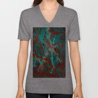 Unisex V-Neck featuring Abstract 77 by Lo Coco Agostino