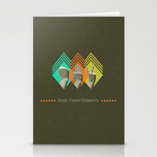 rock paper scissors Stationery Card