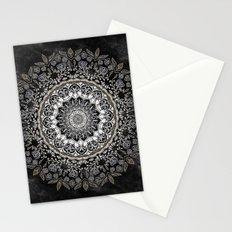 GOLD FLORAL MANDALA Stationery Cards