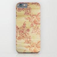 Cabbage Roses - Wood iPhone 6 Slim Case