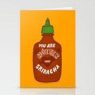 Sriracha Valentine Stationery Cards